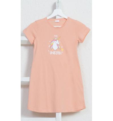 Detská nočná košeľa s krátkym rukávom Jednorožec