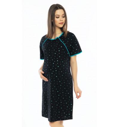 Dámska nočná košeľa materská Hviezdičky
