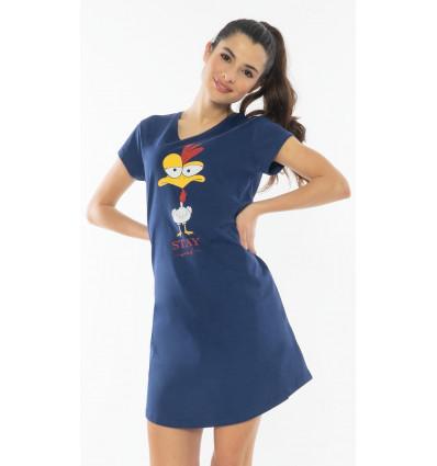 Dámska nočná košeľa s krátkym rukávom Stay