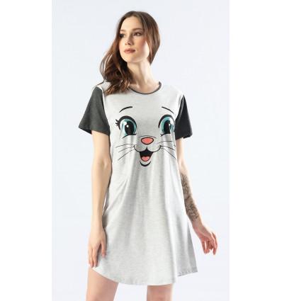 Dámska nočná košeľa s krátkym rukávom Miláčik