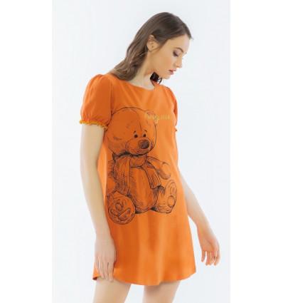 Dámska nočná košeľa s krátkym rukávom Veľký macko