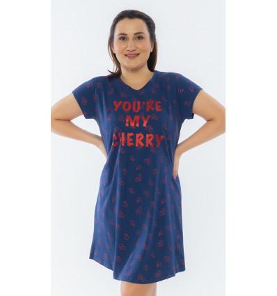 Dámska nočná košeľa s krátkym rukávom Cherry