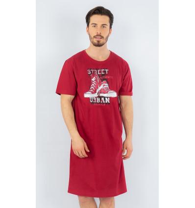 Pánska nočná košeľa s krátkym rukávom Tenisky