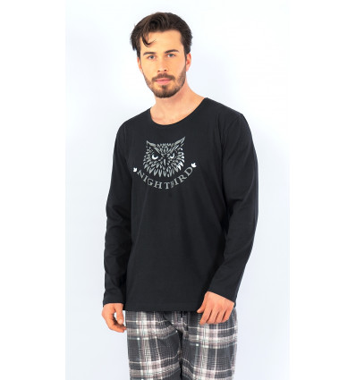Pánske pyžamo dlhé Sova