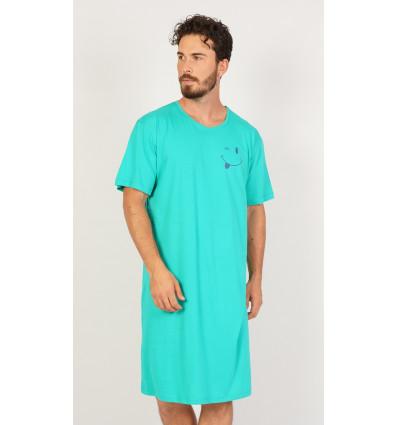 Pánska nočná košeľa s krátkym rukávom Matěj