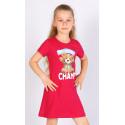 Detská nočná košeľa s krátkym rukávom Macko