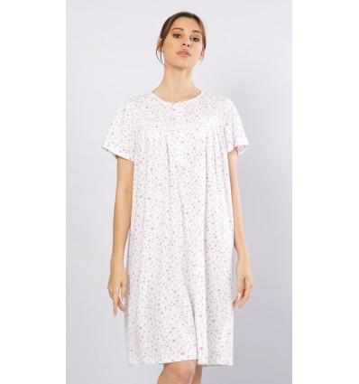 Dámska nočná košeľa s krátkym rukávom Mária