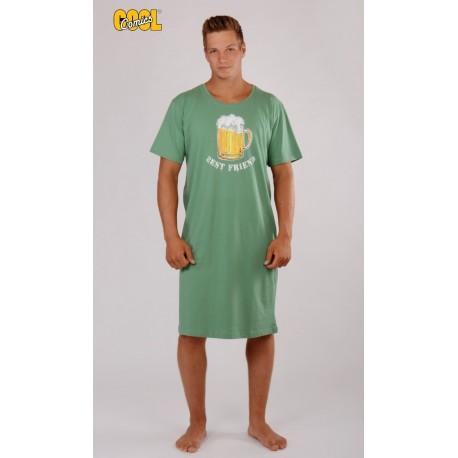 Pánska nočná košeľa s krátkym rukávom Pivo