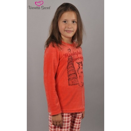 Detské pyžamo dlhé Dievča na cestách